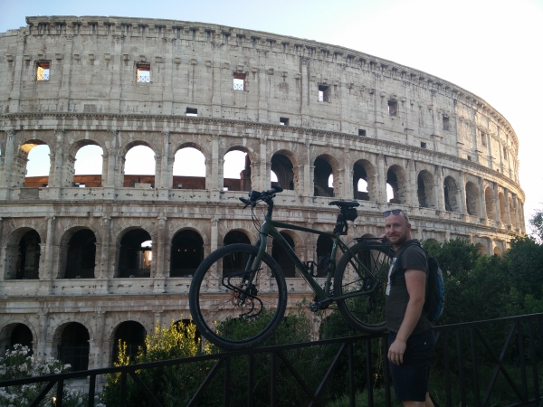 The Colosseum. The Hulk and me.